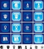buttons av lampa för utbildningseffekt Arkivfoto