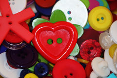 Buttons background. Colorful group of buttons for a sewing background Stock Image