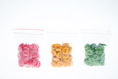 Buttons in bag Royalty Free Stock Photo