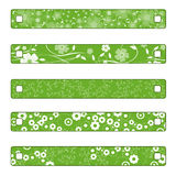 Buttons or banner with flowers Royalty Free Stock Photography