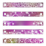 Buttons or banner with flowers Royalty Free Stock Photo
