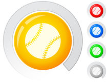 Buttons baseball Stock Photography