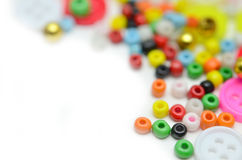Buttons and bead Stock Image