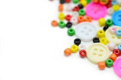 Buttons and bead Stock Photos