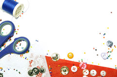 Buttons and beads background Royalty Free Stock Images