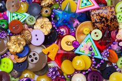 Buttons And Beads Royalty Free Stock Photos