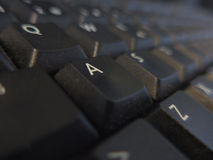 Buttons on black keyboard Stock Image