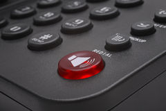Buttons of black phone closeup. Buttons of black phone close up Royalty Free Stock Photo