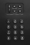 Buttons of black phone. Closeup Royalty Free Stock Images