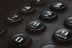 Buttons of black phone Stock Photo