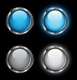 buttons blank rengöringsduk för rollover Royaltyfria Foton