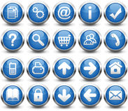 Buttons Blue Royalty Free Stock Photo