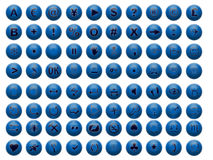 Buttons blue Stock Image