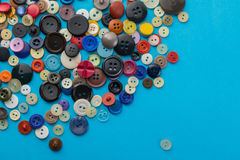 Buttons on a blue background Stock Photos