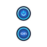 Buttons with blue backlight. Royalty Free Stock Photography