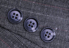 Buttons on the business suit Stock Image
