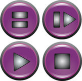 Buttons. Button to enable playback of music and video royalty free illustration