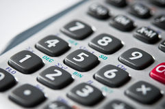 Buttons on a calculator Stock Photography