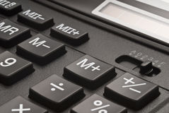 Buttons of calculator Stock Photos