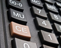 Buttons of calculator Royalty Free Stock Photography
