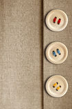 Buttons On Canvas Royalty Free Stock Photo