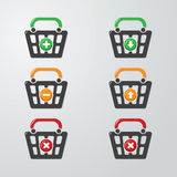 Buttons Cart Stock Photo
