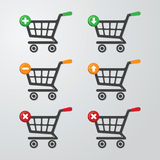 Buttons Carts Royalty Free Stock Image