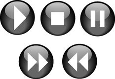 Buttons CD Player Black Royalty Free Stock Image