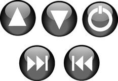Buttons CD Player Black Stock Photo
