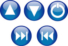 Buttons CD Player Blue Royalty Free Stock Images