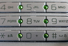 buttons celltelefonen Royaltyfria Bilder