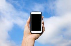 buttons celltelefonen Arkivfoto