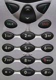 buttons celltelefonen Arkivbild