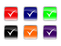 Buttons check symbol Royalty Free Stock Image