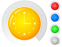 Buttons clock Royalty Free Stock Image