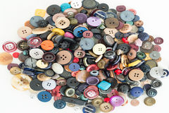 Buttons for clothes. Detail of some buttons for clothes Stock Photography