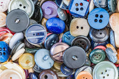 Buttons for clothes. Detail of some buttons for clothes Stock Image