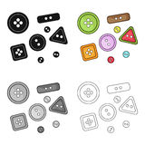 Buttons for clothes.Sewing or tailoring tools kit single icon in cartoon style vector symbol stock illustration. Stock Photo