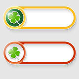 Buttons with cloverleaf Stock Image