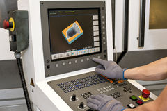 Buttons on cnc programmable machine Royalty Free Stock Image