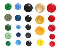 Buttons Collection. Collection of buttons, well isolated on white Stock Photos