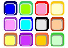 Buttons color Royalty Free Stock Image
