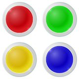 Color Buttons on white background. Color Buttons - 4 primary colors on white background Royalty Free Stock Image