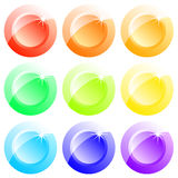 Buttons colored Stock Images