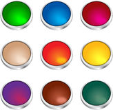 Buttons colored Stock Photography