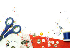 Buttons and colorful beads background Royalty Free Stock Image