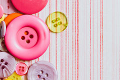 Buttons. Colorful plastic buttons as a background image Royalty Free Stock Photo