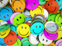 Buttons with colorfull smiles. 3d Stock Photography