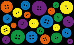 Buttons Colors Black Background Royalty Free Stock Photos