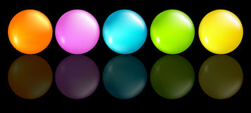 Buttons coloured Stock Image